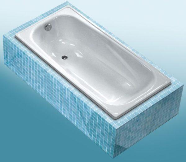 Стальная ванна WHITE WAVE Classic