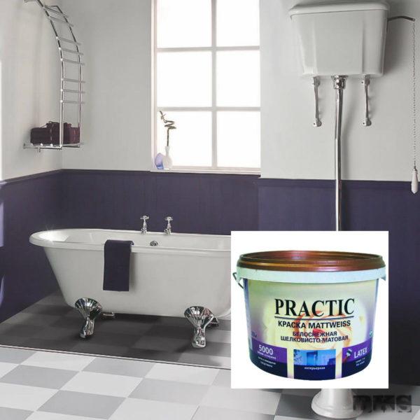Дисперсионная краска для стен в ванной