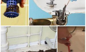 Простыми словами: как прочистить засор в ванной в домашних условиях
