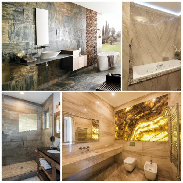 Интерьерные решения для ванн в стиле эко