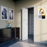 Складная дверь в ванной