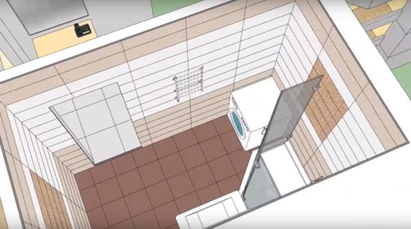 Схема раскладки настенной плитки в ванной