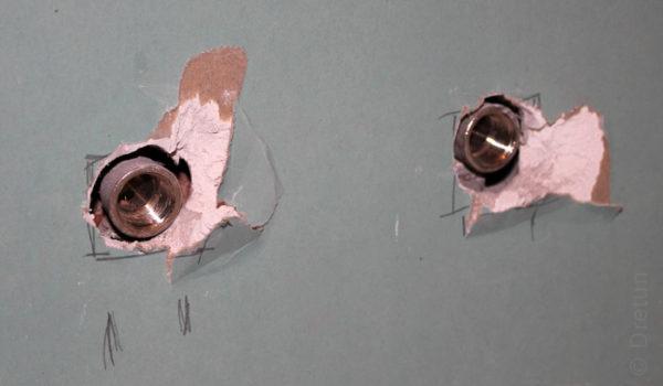 Монтаж водорозеток в гипсокартоне