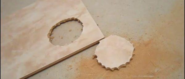 Удаление внутренней части плитки