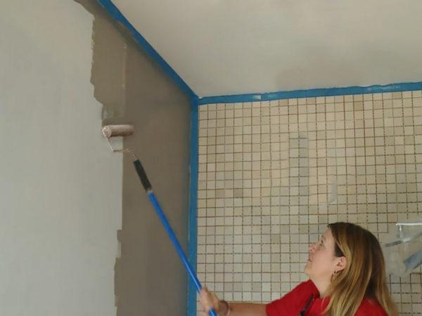 Грунтовка стен под кафель для повышения адгезии