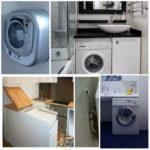 Где спрятать стиральную машинку в ванной