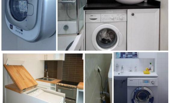 Куда поставить стиральную машину в маленькой ванной