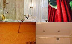 Как повесить шторку в ванной, виды карнизов, штор и креплений