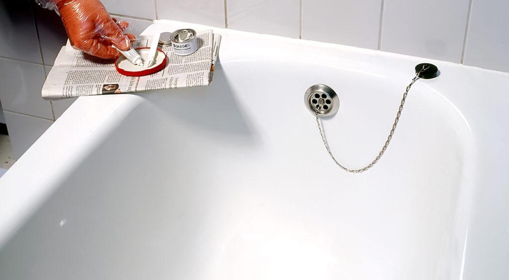 Ремонт царапин акриловых ванн