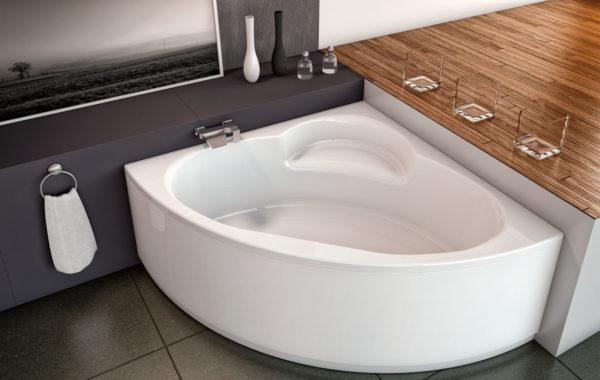 Ванна в четверть круга