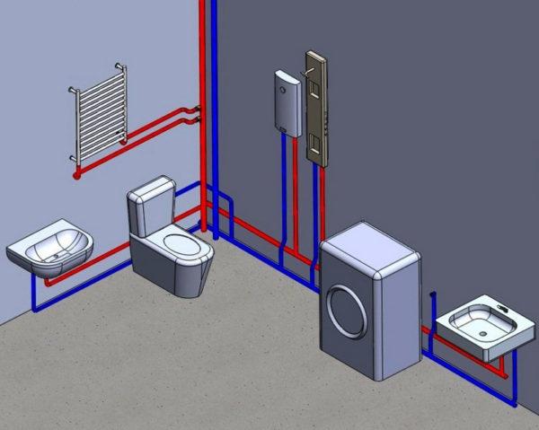 Последовательное подключение сантехнических приборов