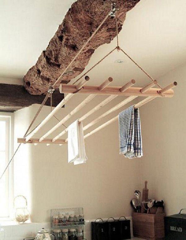 Деревянная рамка для вывешивания стираных вещей