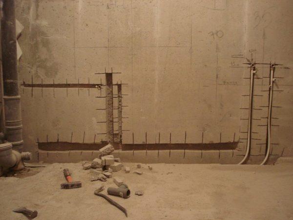 Штробы на стенах