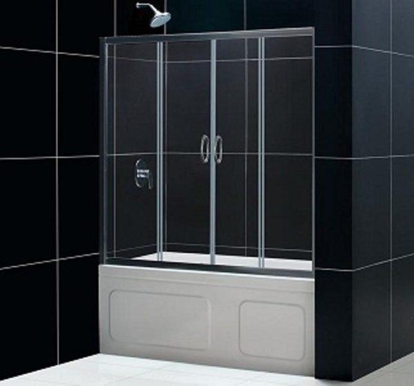 Штора для ванны стеклянная распашная