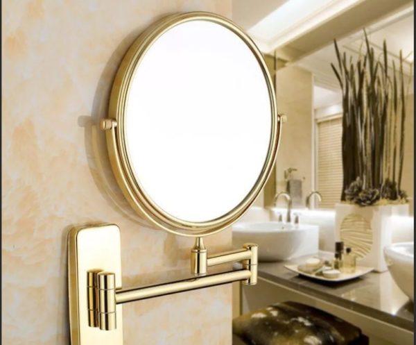 Настенное увеличительное зеркало для макияжа