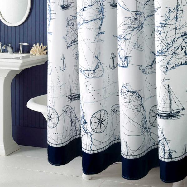 Занавески из смесового текстиля с водоотталкивающей пропиткой