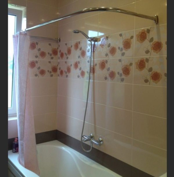 Высота карниза для занавески в ванной