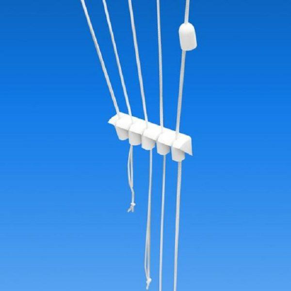 Регулировка высоты подвесов в нижнем и верхнем положении держателями
