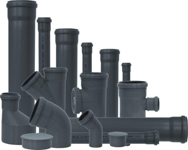 Атмсферостойкие трубы ПВХ для внутренней канализации