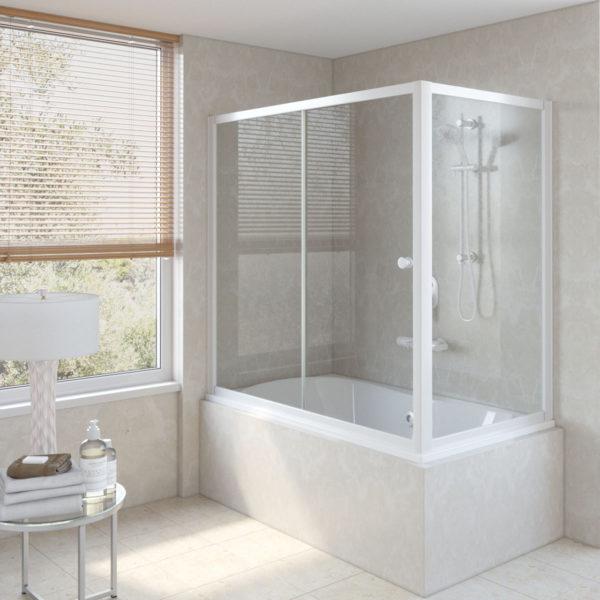 Стеклянные шторы для ванны