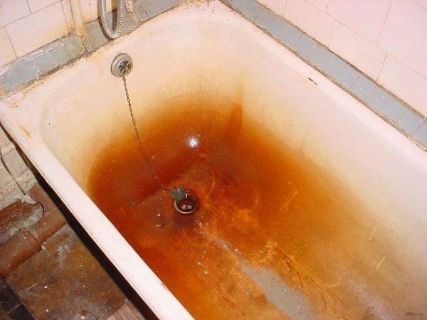 Ржавчина в ванной