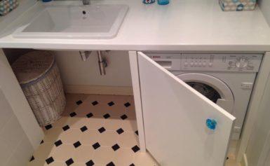 Как подобрать шкаф под стиральную машину в ванную