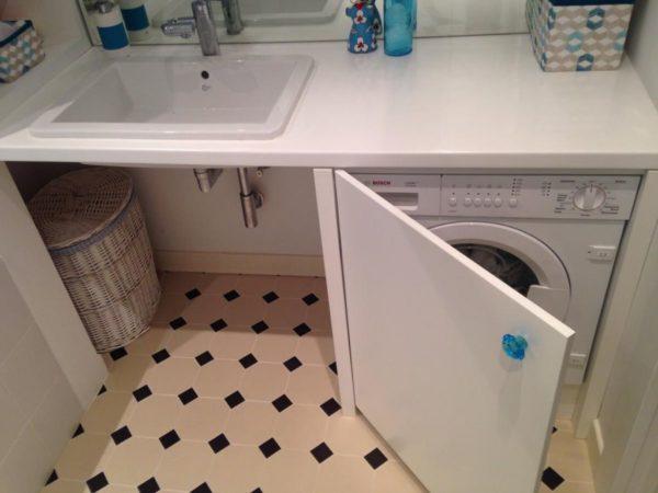 шкаф для стиральной машины в ванной