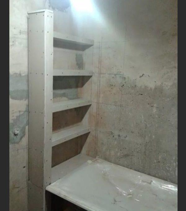 Напольная этажерка с боковыми стенками
