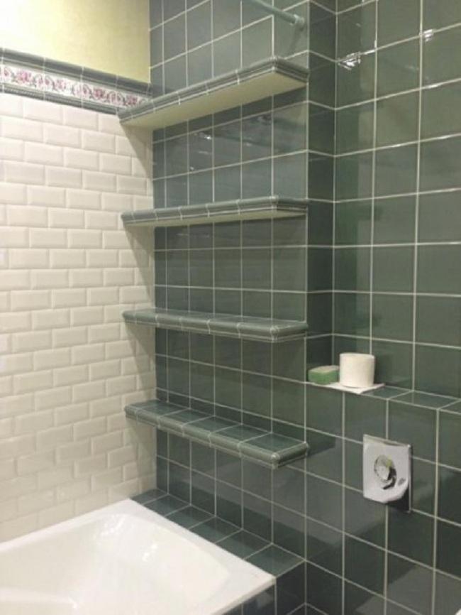 полки в ванне из гипсокартона