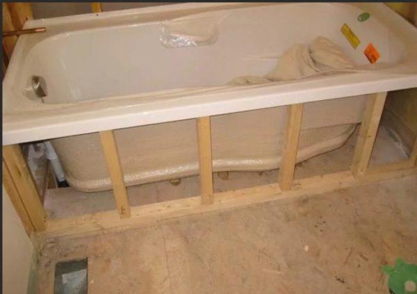 Каркас для экрана под ванну