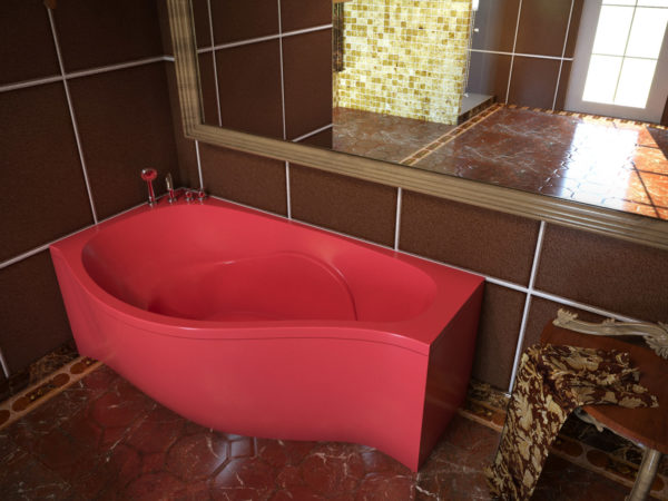 Ванна из литого мрамора Корсика Аквастун с двухсторонним окрашиванием