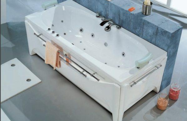 Поручни хромированные для ванны