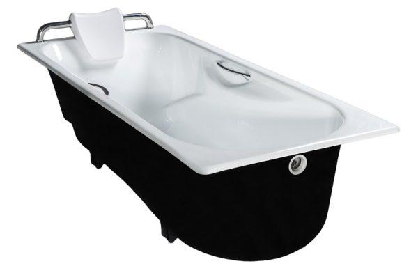 Ванна с подголовником и поручнями