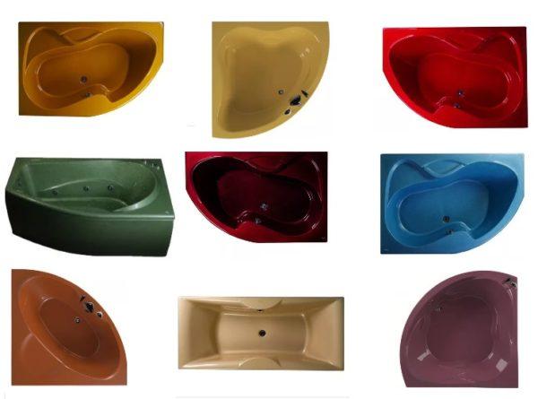 Цветные акриловые сантехнические чаши для элитных интерьеров