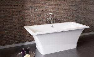 Достоинства и недостатки ванн из литого мрамора