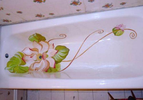 Аэрография внутри ванны