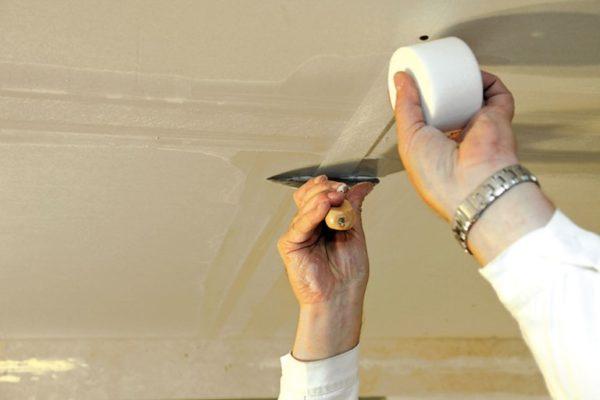 Армирование швов серпянкой