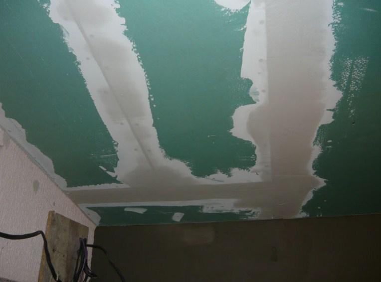 Шпаклевка стыков подвесного потолка