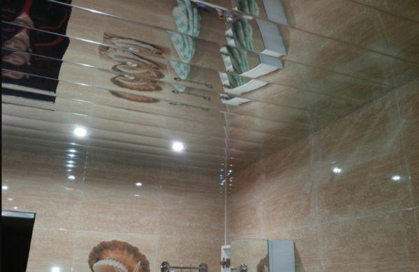Зеркальная панель потолочня