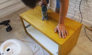 Как сделать тумбу под раковину в ванную своими руками