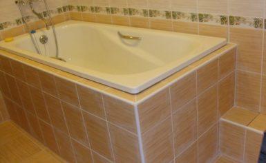 Как положить плитку вокруг ванны