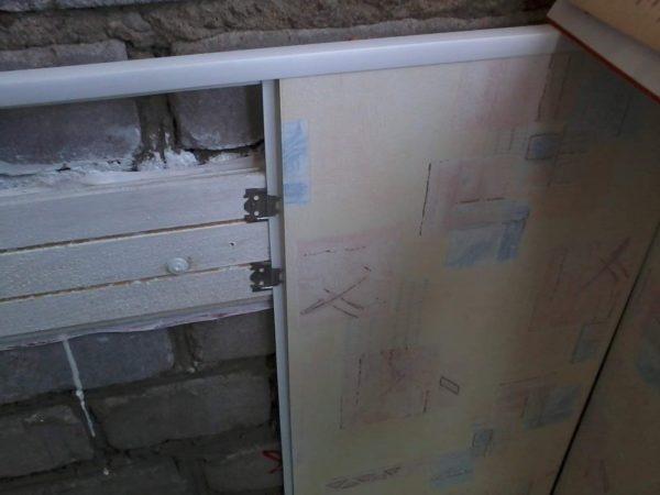 Монтаж виниловых панелей на обрешетку