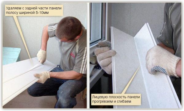 Монтаж пластиковых панелей без углового профиля