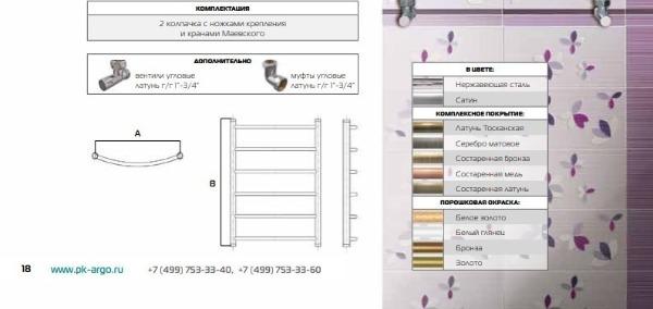 Варианты оформления и комплектации ПС Универсал Арго