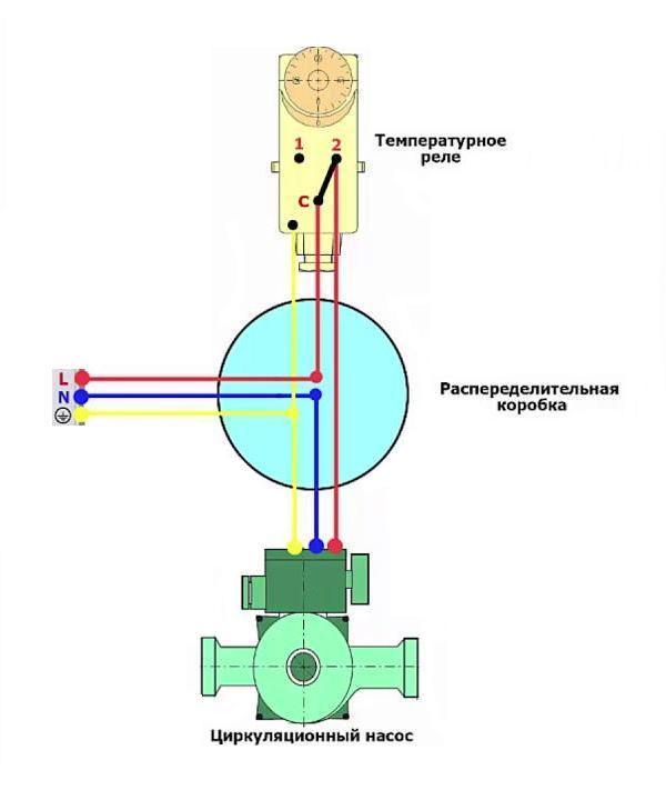Схема подключения терморегулятора к насосу